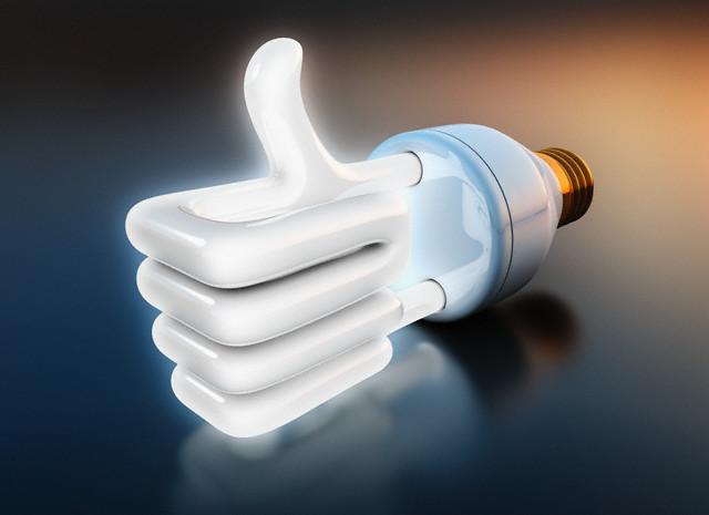 Positive compact fluorescent light bulb