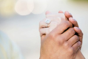 Hands of Newly Engaged Couple --- Image by © Duane Osborn/Somos Images/Corbis